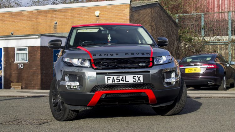 This particular Range Rover Evoque wrapped in Titanium Black Chrome with Gloss Red accenting has to be admired, regardless of your tastes, simply for being out-there and unique