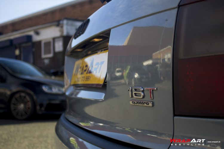 Audi A4 B6 full wrapped in Nardo Grey with Black accenting